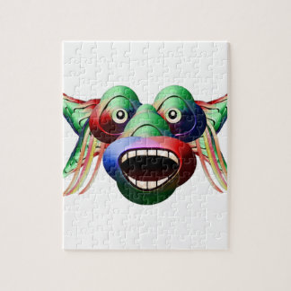 Futuristic Funny Monster Character Face Jigsaw Puzzle
