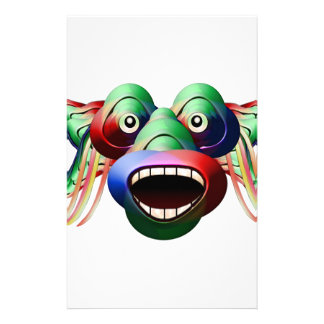 Futuristic Funny Monster Character Face Stationery Design