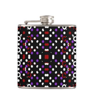 Futuristic Geometric Pattern Hip Flask