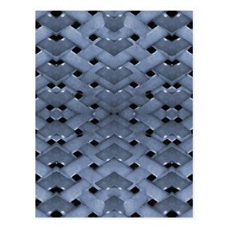Futuristic Grid Pattern Postcard