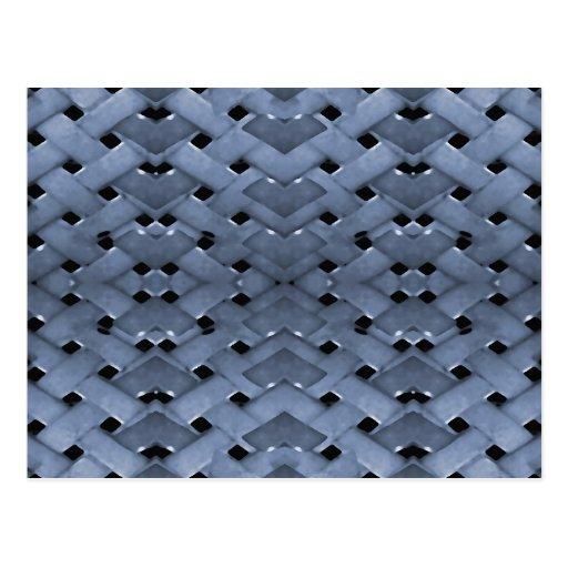 Futuristic Grid Pattern Post Card