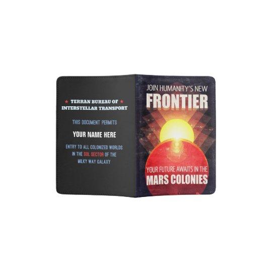 Futuristic Mars Colonisation Illustration Passport Holder
