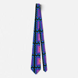 Futuristic Optical Illusion Designer Asymmetrical Tie