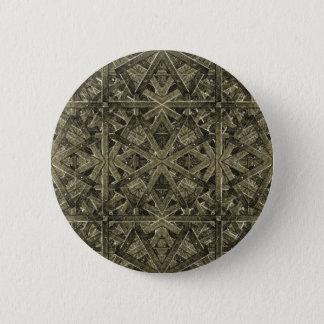 Futuristic Polygonal 6 Cm Round Badge
