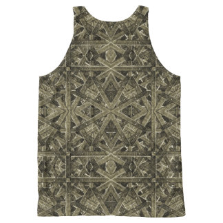 Futuristic Polygonal All-Over Print Singlet