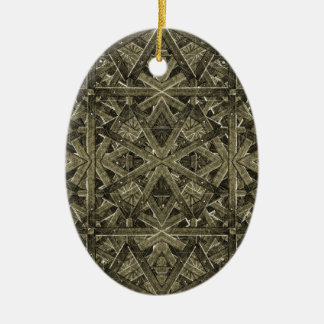 Futuristic Polygonal Ceramic Ornament