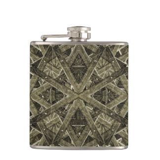 Futuristic Polygonal Hip Flask