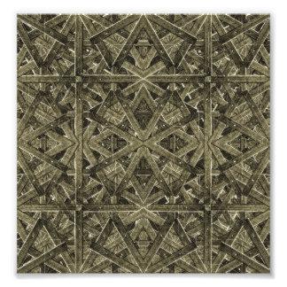 Futuristic Polygonal Photo Print