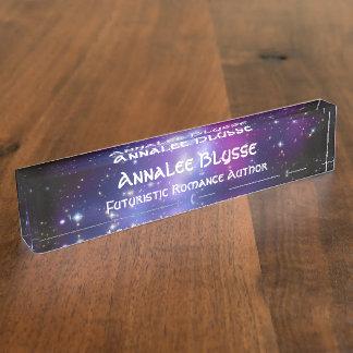 Futuristic Romance Author Name Plate