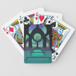 Futuristic Sci-Fi Cathedral Building Bicycle Poker Deck