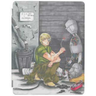 Futuristic Scifi Robot Repair iPad Case iPad Cover