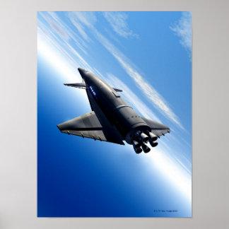 Futuristic Space Shuttle Poster