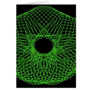 Futuristic spirograph card