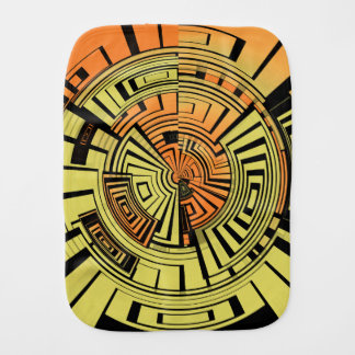 Futuristic technology abstract burp cloth