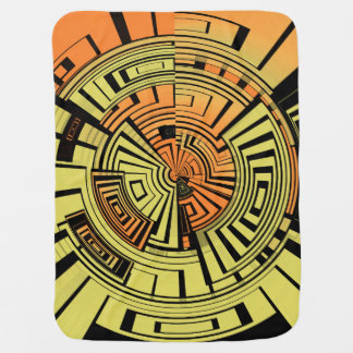Futuristic technology abstract swaddle blankets