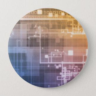 Futuristic Technology as a Next Generation Art 10 Cm Round Badge