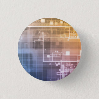 Futuristic Technology as a Next Generation Art 3 Cm Round Badge