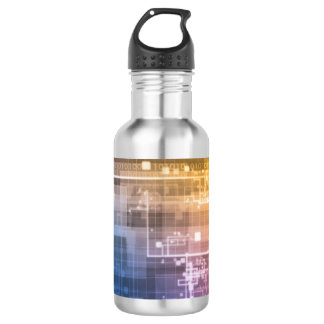 Futuristic Technology as a Next Generation Art 532 Ml Water Bottle