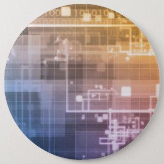 Futuristic Technology as a Next Generation Art 6 Cm Round Badge