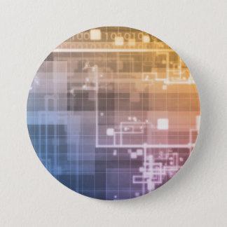 Futuristic Technology as a Next Generation Art 7.5 Cm Round Badge