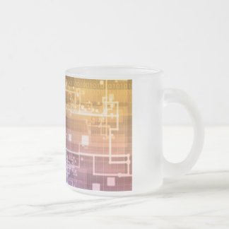 Futuristic Technology as a Next Generation Art Frosted Glass Coffee Mug