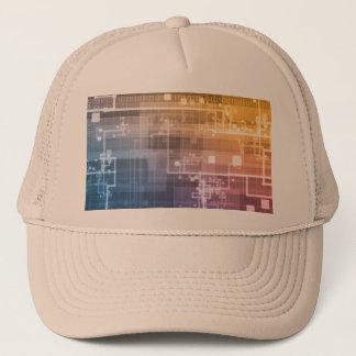 Futuristic Technology as a Next Generation Art Trucker Hat