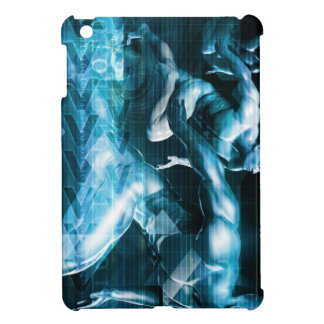 Futuristic Technology Background and Visual Data iPad Mini Cover