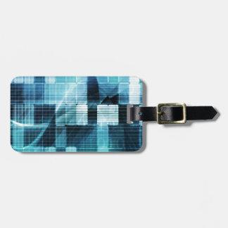 Futuristic Technology Luggage Tag