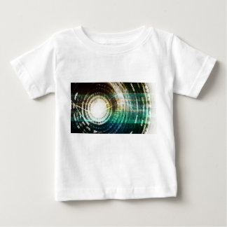 Futuristic Technology Portal with Digital Baby T-Shirt