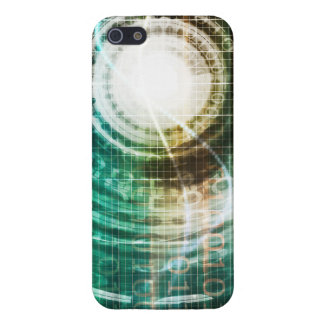 Futuristic Technology Portal with Digital Cover For iPhone 5/5S