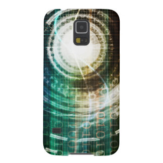 Futuristic Technology Portal with Digital Galaxy S5 Case