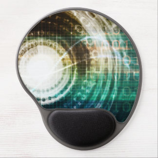 Futuristic Technology Portal with Digital Gel Mouse Pad