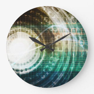 Futuristic Technology Portal with Digital Large Clock