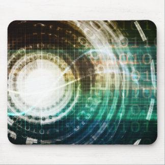 Futuristic Technology Portal with Digital Mouse Pad