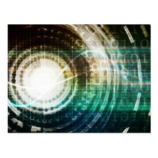 Futuristic Technology Portal with Digital Postcard