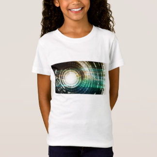 Futuristic Technology Portal with Digital T-Shirt