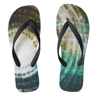 Futuristic Technology Portal with Digital Thongs