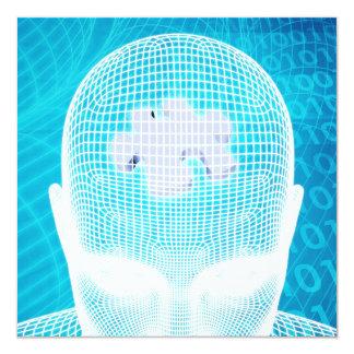 Futuristic Technology with Human Brain Chip Card