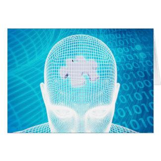 Futuristic Technology with Human Brain Chip Soluti Card