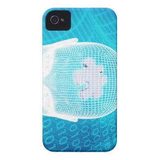 Futuristic Technology with Human Brain Chip Soluti iPhone 4 Case-Mate Case