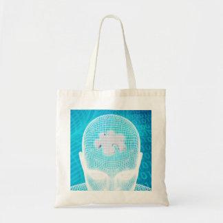 Futuristic Technology with Human Brain Chip Soluti Tote Bag