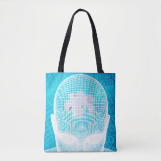 Futuristic Technology with Human Brain Chip Tote Bag