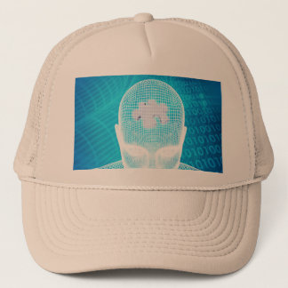 Futuristic Technology with Human Brain Chip Trucker Hat