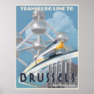 Futuristic Trans-Euro line Poster