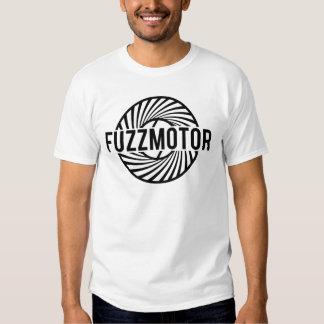 Fuzz logo on white tee shirts