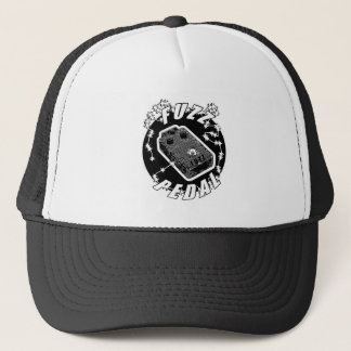 FUZZ Pedal -Electric Black & White Trucker Hat