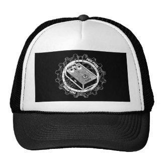 Fuzz PEDAL Gear - Black & White Distressed Cap