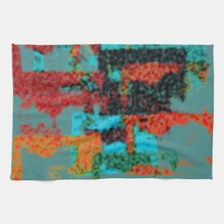 Fuzzy Abstract Pattern Tea Towel