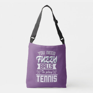 FUZZY BALLS for TENNIS (Wht) Crossbody Bag