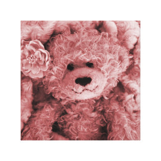 FUZZY BEAR IN A FUZZY BLANKET-SEPIA GALLERY WRAPPED CANVAS
